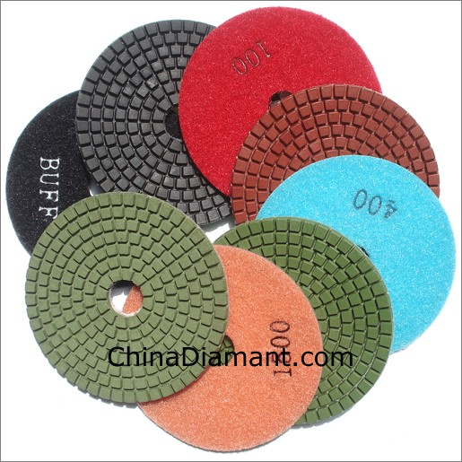 "4"" 100mm Wet Diamond Polishing Pads"