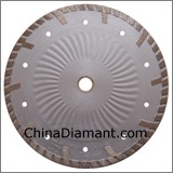 Diamond Dry Cutter Wide Turbo Rim Protecting Teeth